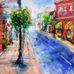 Impressionistic cityscape, oil painting by Jill Brabant