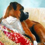 Pet Portrait of a boxer dog by Jill Brabant